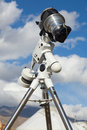 A reflex camera mounted on a tripod. Stock Photos