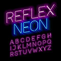 Reflex Neon font Royalty Free Stock Photo
