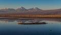 Reflexion on salt lake atacama desert Royalty Free Stock Image