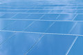 Reflexion of the sky on solar cells closeup Royalty Free Stock Photography