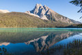 Reflexions in emerald lake yoho national park british columbia canada Royalty Free Stock Photography