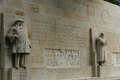 Reformation wall in geneva statues on switzerland photo taken on august Stock Image