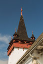 Reformed church spire from sancraiu village romania Stock Photos