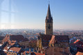 Reformed church tower in Sibiu Stock Photography