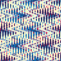 Refracted background colorful wavy seamless pattern Royalty Free Stock Image