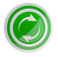 Refresh button with arrows. Royalty Free Stock Photo