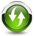 Refresh button green over white Royalty Free Stock Photo