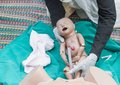 The refresher training to assist childbirth Royalty Free Stock Photo