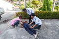 The refresher training to assist in emergency rescue yala thailand april situations devoted of first aid traffic Stock Photos