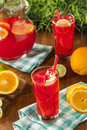 Refreshing cold fruit punch with berries and oranges Royalty Free Stock Photo