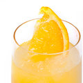 Refreshing cold lemon cocktail against a white background Stock Photos