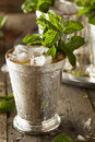 Refreshing cold mint julep for the derby Stock Image