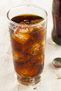 Refreshing ice cold soda pop in a glass Stock Image