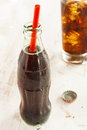Refreshing ice cold soda pop in a glass Royalty Free Stock Photos