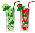 Refreshing mojito cocktails Stock Images