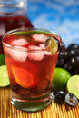 Refreshing Red Grape Lemonade Royalty Free Stock Photography