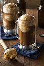 Refreshing root beer float with vanilla ice cream Stock Photography