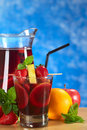 Refreshing Sangria Stock Photography