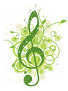 Refreshing Spring Music Background Royalty Free Stock Image