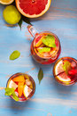 Refreshing summer cocktails Royalty Free Stock Photo