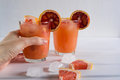 Refreshing summer cocktails with citrus fruits Royalty Free Stock Photo