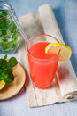 Refreshing summer drink with fruit punch Royalty Free Stock Photo