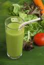 Refreshing vegetable smoothie milk shake Stock Photos