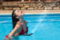 Refreshing water hose Royalty Free Stock Images