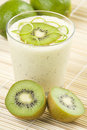 Refreshment and creamy milkshake  kiwi and lime Royalty Free Stock Images