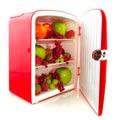 Refrigerador sano para la dieta Foto de archivo libre de regalías