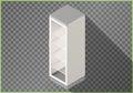 Refrigerator flat isometric fridge 3d Royalty Free Stock Photo