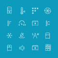 Refrigerator, home fridge, freezing vector icons set Royalty Free Stock Photo