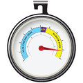 Refrigerator thermometer for refrigeration hosted inside vector illustration Stock Photos