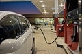 Refueling Automobile At Gas Station Convenience Store Royalty Free Stock Photo