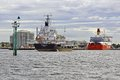 Refuelling lighter zemira in the port of melbourne australia Royalty Free Stock Photography