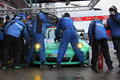 Refuelling porsche a in pit lane on the nuerburgring during the hour race Stock Images