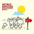 Refugee day illustration