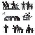 Refugee Icon Set.
