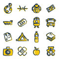 Refugees icons freehand color this image is a illustration and can be scaled to any size without loss of resolution Royalty Free Stock Photography