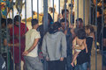 Refugees at Keleti train station Royalty Free Stock Photo
