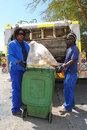 Refuse removal workers Stock Image