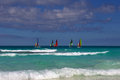 Regatta in cuba sailing the caribbean sea on the island of cayo santa maria Stock Photos