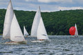 Regatta sailing competition for marine sports Royalty Free Stock Photos
