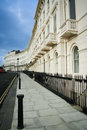 Regency terraced houses brighton street england Stock Images
