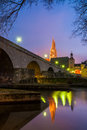 Regensburg view of the cathedral and the stone bridge germany Royalty Free Stock Photos