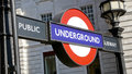 Regent street london united kingdom july underground sign at Stock Photography