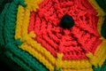 Reggae hat photo of a knitted rasta tam Royalty Free Stock Photography