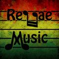 Reggae music illustration of a symbol of in the background Stock Photo