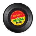 Reggae music vinyl record Royalty Free Stock Photo