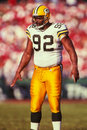 Reggie white green bay packers former de and hall of famer image taken from color slide Stock Photos